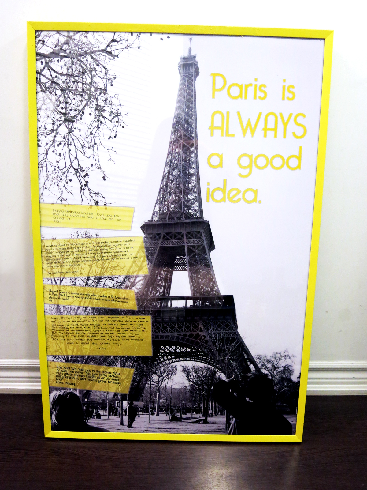 DIY spray paint picture frame travel poster