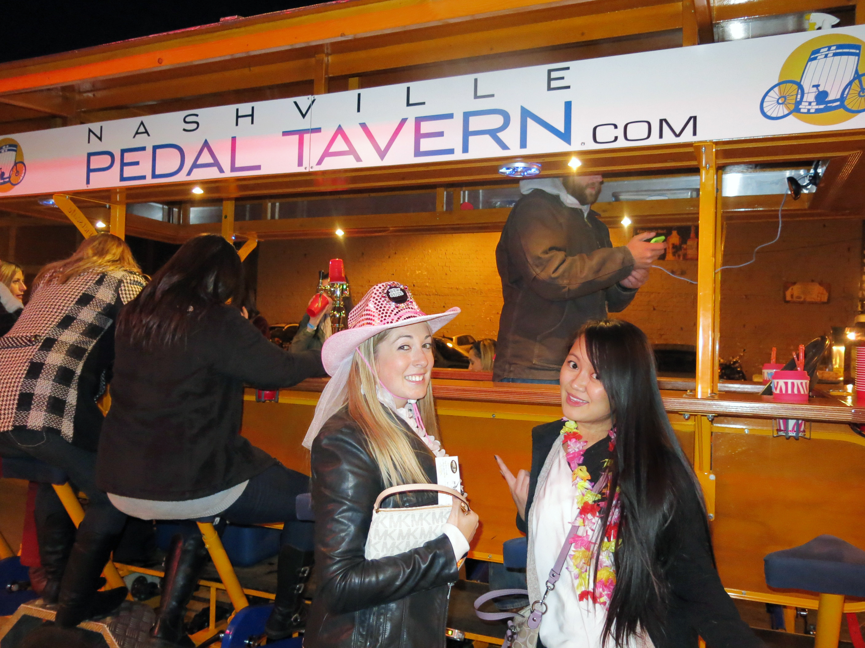 Bachelorette party on the pedal tavern