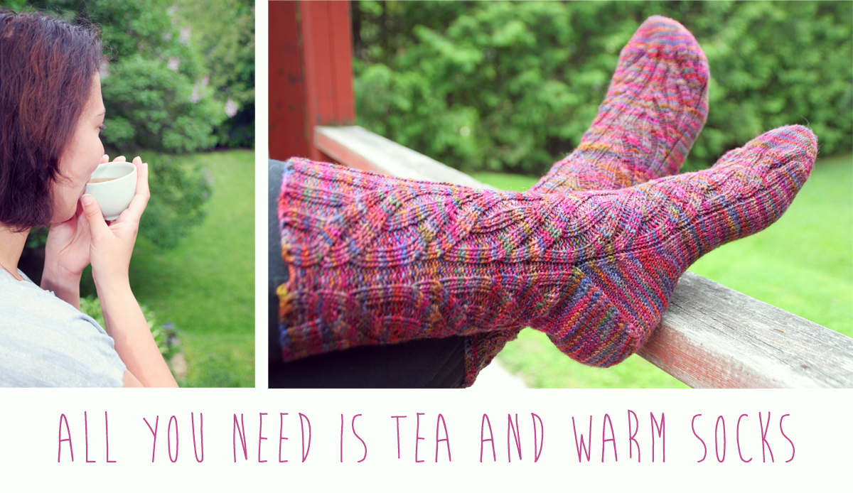 quotes: all you need is tea and warm socks