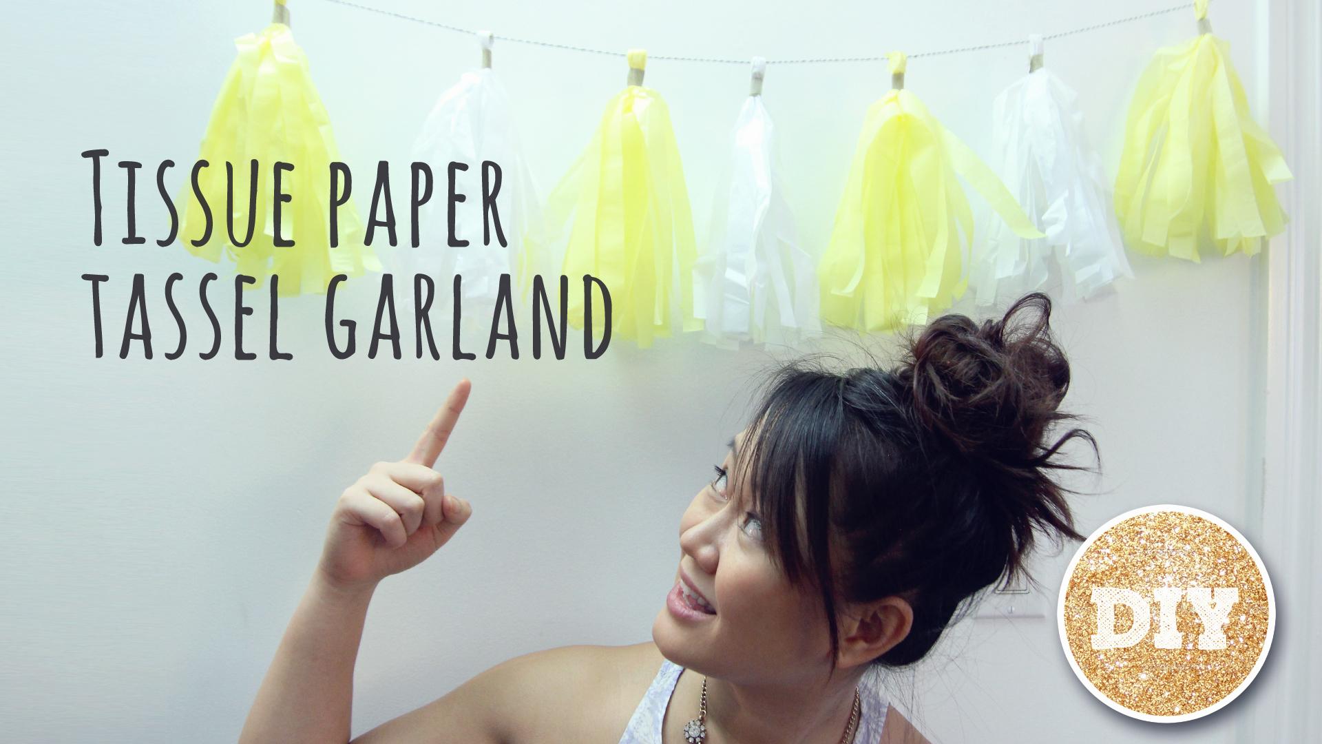 DIY Tissue Paper Tassel Garland